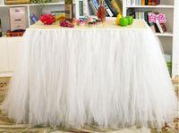 توتو تنورة الجدول تول المائدة ل ديكور الزفاف عيد الطفل دش حزب تول الجدول تنورة تسليم سريع WQ19