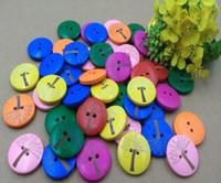 Botones de madera 20mm lucky tree 2 hoyos para caja de Regalo hecha a mano Artesanía de Scrapbooking Decoración Del Partido DIY Costura dibujar