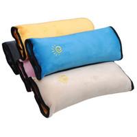 Wholesale- Baby Stroller Shoulder Pad Pillow Car Safety Belt Adjust Vehicle Seat Cushion For Kids Playpens Kinderwagen Head Neck Support