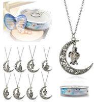 Neue Liebeswunsch Perle Käfige Medaillon Halskette Natürliche Süßwasserperle Oyster Anhänger (ohne Perle Canned) Hohle Schildkröte Mond Stil Halsketten