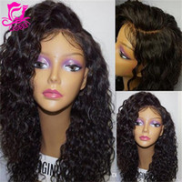 New side part full Brazilian Kinky Curly Wigs Lace Front Wig...