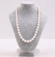 Hot Natural 10-11mm South Seas White Pearl Necklace 18 Inch 925 Silver Clasp