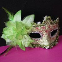 Promotion Selling venetian Half face flower mask Masquerade ...