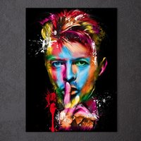 Amazing Colorful Modern Abstract David Bowie Bob Marley Port...