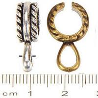 Connectors charms snap bails lim klämma hängen halsband hantverk diy vintage silver vatten droppe stora hål metall smycken komponenter 200pcs
