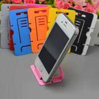 Suporte dobrável portátil universal do suporte do telefone móvel do cartão dobrável portátil mini