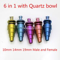 Colorful Universal Domeless Gr2 6in1 Chiodi in titanio 101419mm Maschio e femmina con ciotola di quarzo