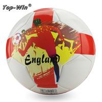 Bola de futebol de futebol do tamanho 5 futebol Nossos próprios produtos de fábrica  são melhor preço para bola de futebol + agulha de gás 2pcs 29d56a1fc2dce