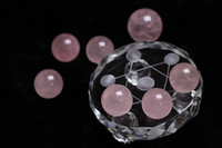 7 star plate nature rose quartz Crystal Healing Ball Sphere ...