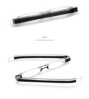 Korea Stil Mini Lesebrille Falten Optische Lesebrille Rahmen Rotierenden Lesebrillen Schlank Und Clamp Optischen Rahmen Eltern Geschenk