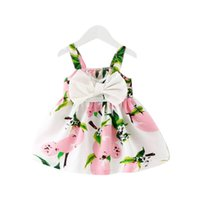 Baby Dress Infant Girl Robes Lemon Print Baby Girls Vêtements Princesse Anniversaire Robe pour bébé fille