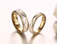 2019 mode gold farbe 316l edelstahl hochzeit ringe hochwertige paar schmuck anel feminino bague homme us größe 5-12