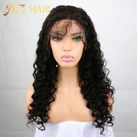 JYZ 8A peruca de cabelo Humano Brasileiro Perucas de Cabelo Humano Sem Cola Perucas Cheias Do Laço Rendas Frente Perucas Para As Mulheres Negras Jerry Encaracolado