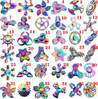 36stypes Rainbow Fidget Spinner Colorful EDC Gyro Toys Alloy Crab / Butterfly / UFO / Whirlwind Funny Beautiful Spinner Wholesale