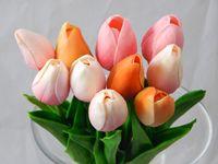 14-дюймовые специальные тюльпаны из искусственного латекса с искусственными тюльпанами для весенней аранжировки, букеты (10 шт.)