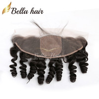 13 * 4 en vrac de dentelle de vague Frontal Fermeture avec 4 * 4 Base de soie Top brésilien Extensions cheveux postiches Livraison gratuite Bella cheveux