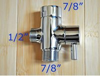 """Accesorios de baño Separador de agua de latón Manija Palanca Válvula de ángulo de cobre 3 vías 7/8 """"MACHO +7/8"""" HEMBRA + 1/2 """"MACHO EE. UU. CANADÁ Solo mercado"""