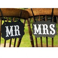 Hot Sale Kraft Paper Mr Mrs Wedding Sign Birthday Party Wedd...