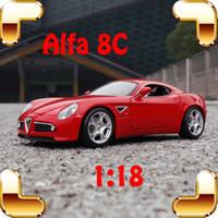 Presente de Ano Novo Alfa 8C 1/18 Modelo de Metal Coleção de Veículos de Brinquedo Estático Diecast Para Homens Fãs Presente De Luxo Pacote Simualtion brinquedo