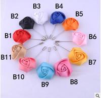 Роза цветы броши булавки костюмы платье корсажи церемония свадьба броши лента ручной ткани корсаж 15 цветов