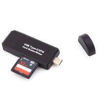 Freeshipping Type-C USB 2.0 OTG TF Micr-O -S-D Lettore di schede di memoria Reader Combo per MacBook Computer Phone Android