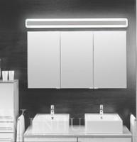 Moderno acrílico Espejo de baño luz maquillaje baño cable de la luz lámpara de pared lámpara delantera espejo LED impermeable de la iluminación antiniebla 5 tamaños