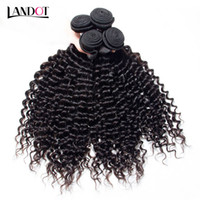 Brazilian Deep Curly Virgin Hair Weave Bundles Unprocessed P...
