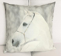 45cm Nordic white horse suede fabric cushion pillow case hom...