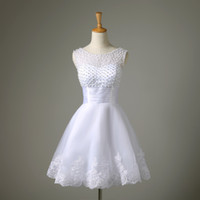Real Sample New White Short Wedding Dress Brides Sexy Lace P...