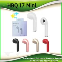 HBQ I7 Mini Bluetooth Earbud Single Wireless Invisible Headphones Casque avec Mic Stereo bluetooth écouteur pour Android DHL 0107037