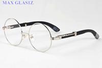 Erkekler için ücretsiz kargo güneş gözlüğü marka tasarımcısı gözlük tam çerçeve buffalo boynuz gözlük spor şeffaf lens ile ahşap güneş gözlüğü kutusu