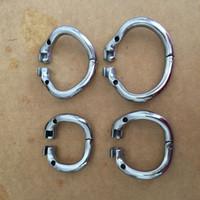 Neueste 36mm / 40mm / 45mm / 50mm Sicherungsring Design Edelstahl Keuschheit Keuschheitsgeräte Keuschheitskäfig Ring 4 Größen für die Wahl