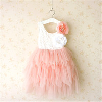 Girls Lace Flower Dresses Baby Girl Princess tutu Party Dres...