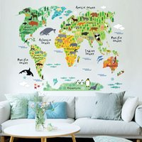 Colorful World Map Wall Sticker Decal Vinyl Art Kids Room Of...