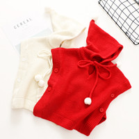 Everweekend Girls Knitted Sweater Capes Tops with Hats Croch...
