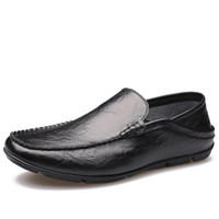 2017 High Quality Genuine Leather Men Shoes Soft Moccasins L...