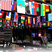 Wholesale- 32 flags from all over the world for wedding cele...
