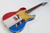 Новое поступление фабрика на заказ блеск металлик гитара 6 струнная гитара трехцветная гитара электрическая бесплатная доставка