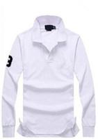 حار بيع عرضي لعبة البولو قميص أزياء الرجال طويل الأكمام للرجال وصول بولو الجديدة أزياء العلامة التجارية قمصان بولو رجل سليم قميص