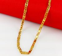 Mode heiß-verkaufende Modelle single-chain 24k vergoldete Halskette Allergie lange Zeit verblassen