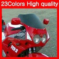 100% Nieuwe Motorfiets Voorruit voor Yamaha FZR250R 90 91 92 FZR250 R FZR 250 R FZR 250R 1990 1991 1992 Chrome Black Clear Smoke Ruiten