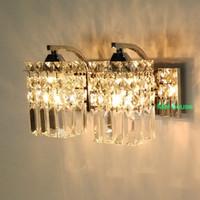 sconce 침실 크리스탈 벽 램프 홈 장식에 대 한 광택 K9 현대 크리스탈 LED 벽 램프 조명 벽 Sconce 베란다 통로 거울 조명