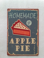 Homemade Apple Pie food Desert tin sign Vintage home Bar Pub...