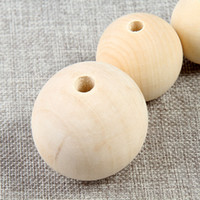 200pcs lot 8 10 12 14 16 18 20mm Nature Color Wooden Beads R...