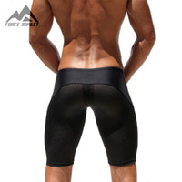 Gros-Classic Skinny Hommes Shorts Serrés Casual Loisirs Fitness Hommes Workout Shorts Maille Respirant Crossfit Sweatshorts 2AQ11