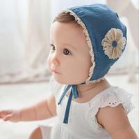 Новые девушки дети шляпы цветок Шапочка дети кружева Принцесса шапки шляпы детские младенческой ведро шляпа дети