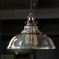 Vintage Glas Pendelleuchten Hanglamp Leuchten Retro Industrie Pendelleuchte Loft Lamparas Colgantes 110 v 220 v E27 Birne