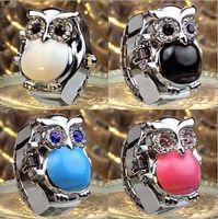 caldo più nuova vigilanza diamante gufo anello cz creativo studente mix anello orologio elettronico progetta 100pcs / lot