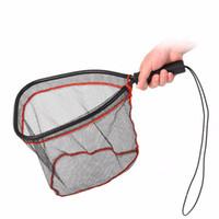 Commercio all'ingrosso portatile atterraggio netto reti reti da pesca da pesca Brail net leggere leggero in alluminio atterraggio rete da pesca netta in nylon rete de pesca