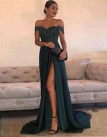 2017 Sexy Prom Dresses A Line Chiffon Off- the- Shoulder Floor...